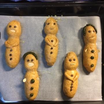 Guaguas de pan listas para entrar al horno